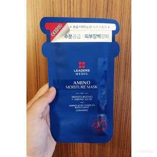 Leaders Mediu Amino Moisture Mask (moisturizing + Amino Acid) Amino Acid Complex With Lysine Creamide From Korea