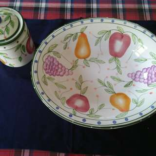 Fruit Large Bowl and Jar