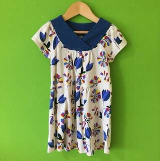TEA Dress in Blue Floral Print (3 Years Old)