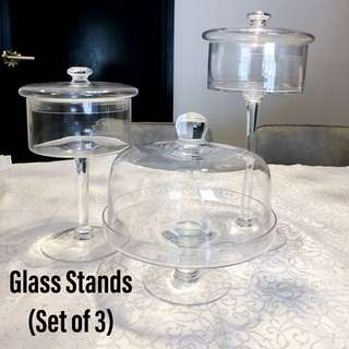 Dessert Glass Stands Cake Candy Macaron Jar for Rent