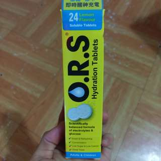 O.R.S Hydration Tablets Lemon Flavour Soluble  電解能量水溶片