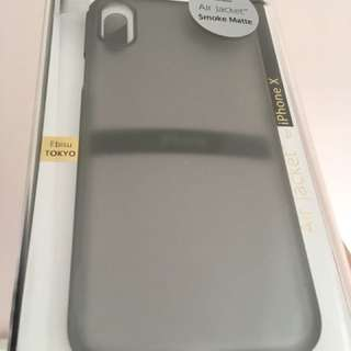 iPhone X Air Jacket Smoke matte