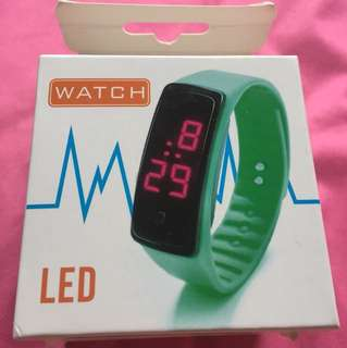 LED water resistant bracelet watch