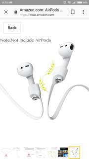 VIMVIP iPhone 7 AirPods Strap with Magnetic Adsorption Sport Silicone Anti-lost Strap for Apple Airpods (White)