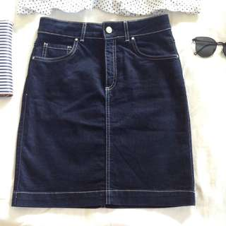 Topshop mini/midi denim skirt