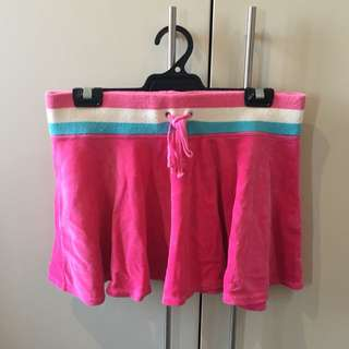 Hot Pink Velour Mini Skirt
