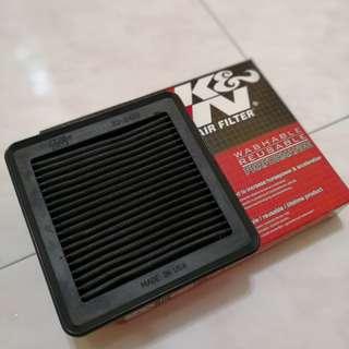 K&N drop in air filter 33-2422 honda jazz
