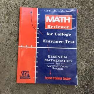 Math CET Review Book