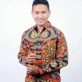Kemeja batik motif dragon