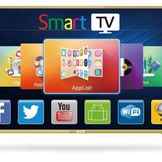 "Ace 32"" Aluminum Slim HD Smart TV Gold LED-808 DK8"