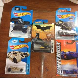 Batman Hotwheels and matchbox