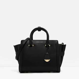 Charles & Keith boxy trapeze bag