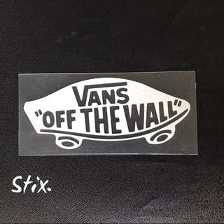 Vans Vinyl Cut Sticker