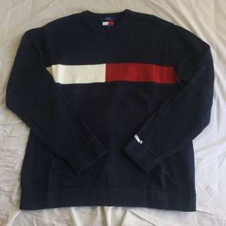 Unisex 日本製 古著 90s  Vintage Tommy Jeans by Tommy Hilfiger Sweater / Made in Japan