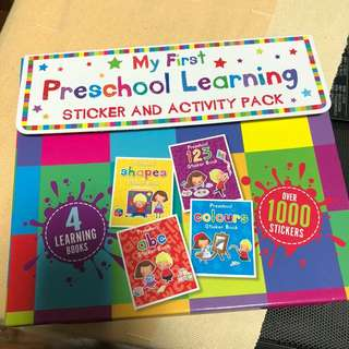 My first preschool learning - sticker and activity pack