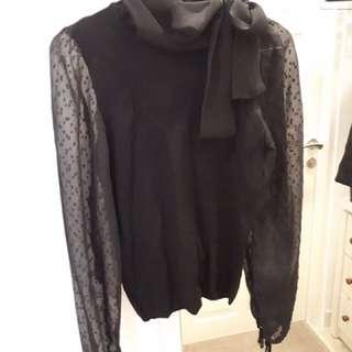 MANGO Black Long-Sleeve Top