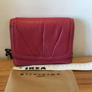 [正貨特賣⚡️Sale🈹全新]Hiroshima Japan 桃紅色 大容量 真羊皮銀包(100%新)