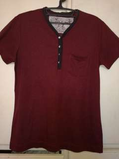 Red shirt with pocket
