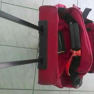 Luggage bag red