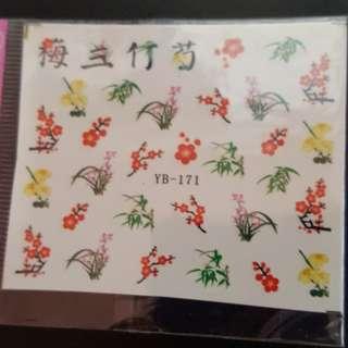 Water Nail Art Sticker CNY