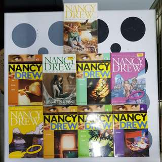 9 assorted titles of Nancy Drew