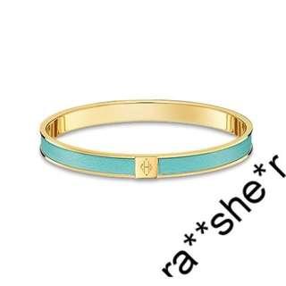 Hermes Bangle XS 手鐲 blue atoll in gold plating pandora birkin chane l ti ffany cartier