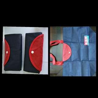 厚料縱橫遊環保袋2個;2 wwpkg ECO bags