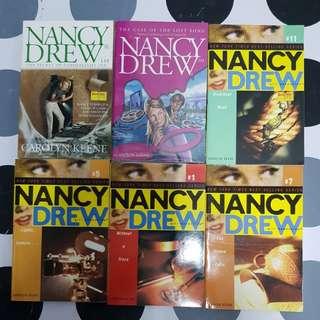 6 assorted titles of Nancy Drew