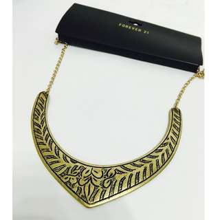NEW FOREVER 21 vintage gold necklace STYLE