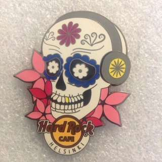 Hard Rock Cafe Pins - HELSINKI HOT & RARE 2013 SUGAR SKULL PIN!