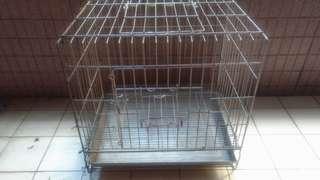 🚚 不銹鋼寵物籠寬60公分X高58公分, 有排泄物底盤