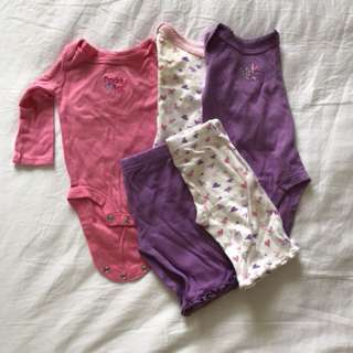 Newborn rompers and pants set