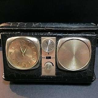 Antique Traveller's Clock/Radio