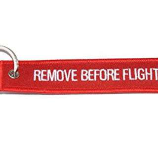 REMOVE BEFORE FLIGHT KEY TAG KEYCHAIN