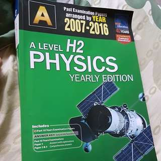 H2 Physics ALevel Ten Year Series
