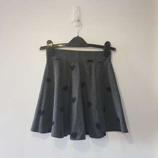 H&M Gray Heart Skirt