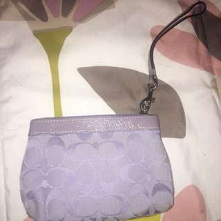 Selling this coach wristlet