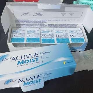1 • DAY ACUVUE® MOIST®  透明隱形眼鏡 透明con 700度 750度