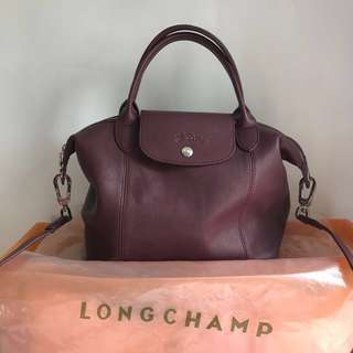 Longchamp Leather wine small tote
