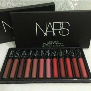 💄 Nars Cosmetic New York 12pcs Liquid Lipgloss Lipstick Strobe Vault Set Brillant A Levres