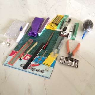 DIY gundam toys planes stationeries tools design crafts cutters drill parts