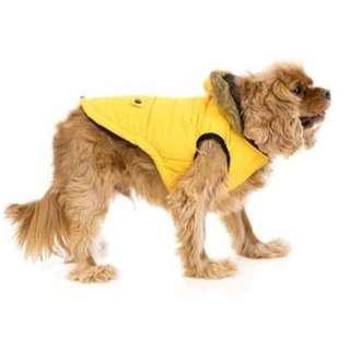 Bone Designs yellow winter puffer jacket