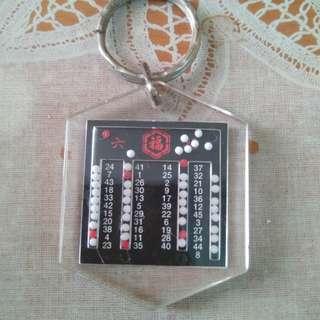 六福珠寳金行六合彩膠匙扣,得44個字。完美主義者勿入。