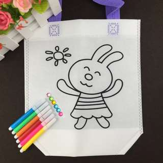 DIY122. DIY Woven Bag with colouring material (Rabbit)