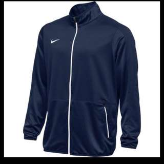 🚚 Nike 男針織籃球夾克(立領外套 慢跑 路跑 XL 黑白