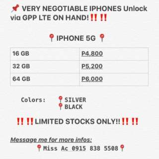 ON HAND IPHONES ‼️