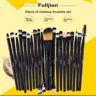 set makeup 20Pcs Rose Black Makeup Brushes Set Pro Powder Foundation Eyeshadow Eyeliner Lip Blush