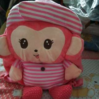 Monkey backpack (pink)