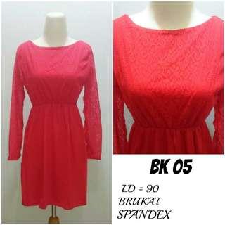 Dress Midi Brukat lapis spandex | BK 05