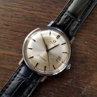 60s-70s 年代Vintage Omega 古董日歷手錶 34mm 不連冠,連原裝omega錶扣